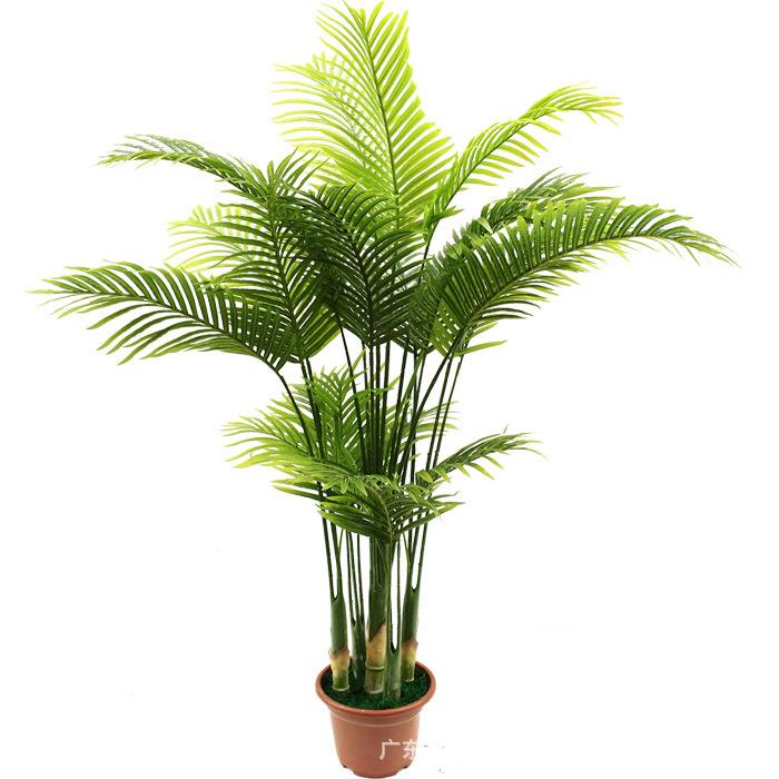 厂家直销绿植盆栽凤尾葵北欧风大型绿植散尾葵仿真树客厅假树盆景