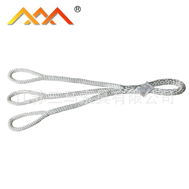 三马直销专业加工起重吊绳质量保证尼龙四脚吊具载荷2T尼龙吊绳