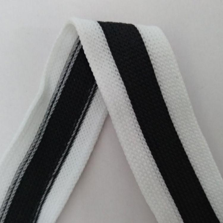 厂家专业生产25mm白黑白针织带有少量现货 颜色正 质量好