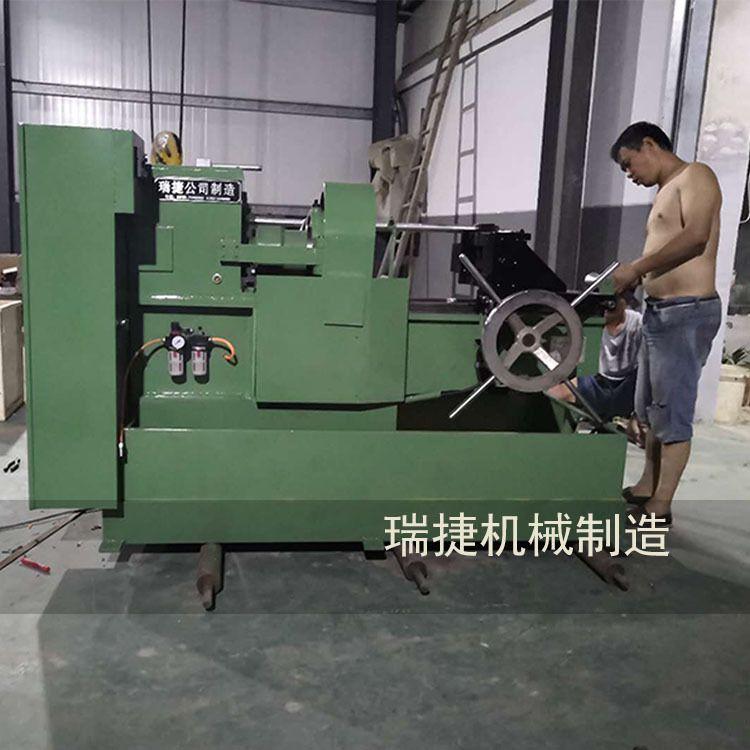 新款地脚螺丝套丝机 钢筋滚丝机 电动圆钢套丝机床 量大从优