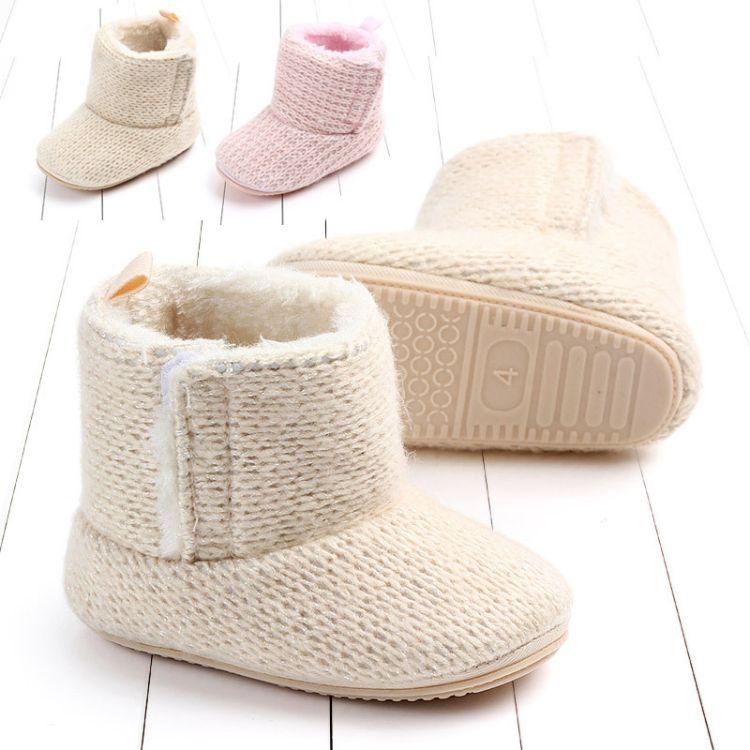 冬季新品女宝宝棉鞋靴子软胶底宝宝学步鞋婴儿鞋0-1岁批发 2073