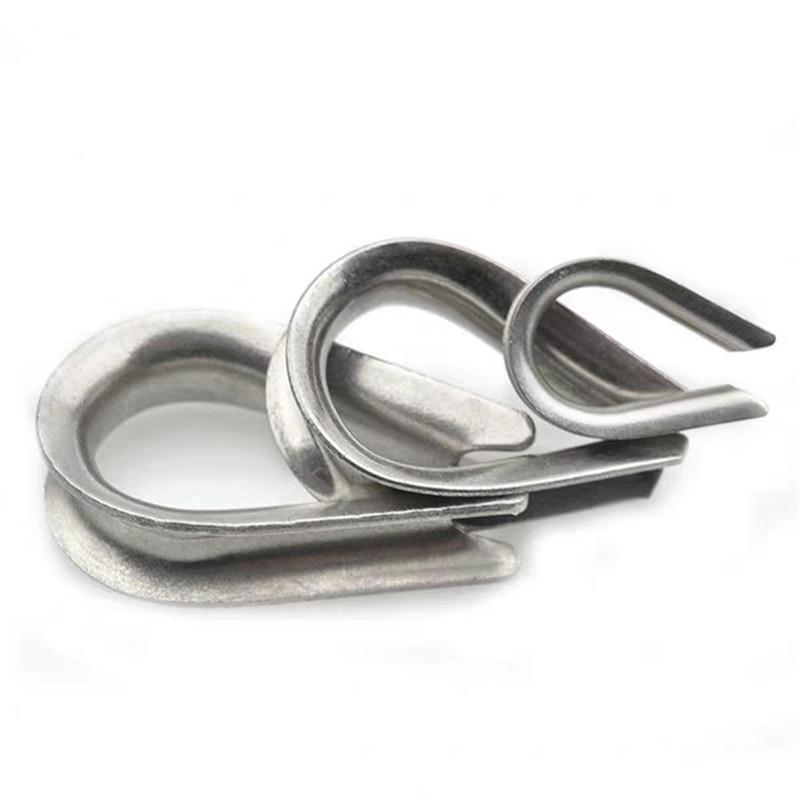 厂家批发 不锈钢鸡心环 三角套环 钢丝绳套环鸡心环三角环