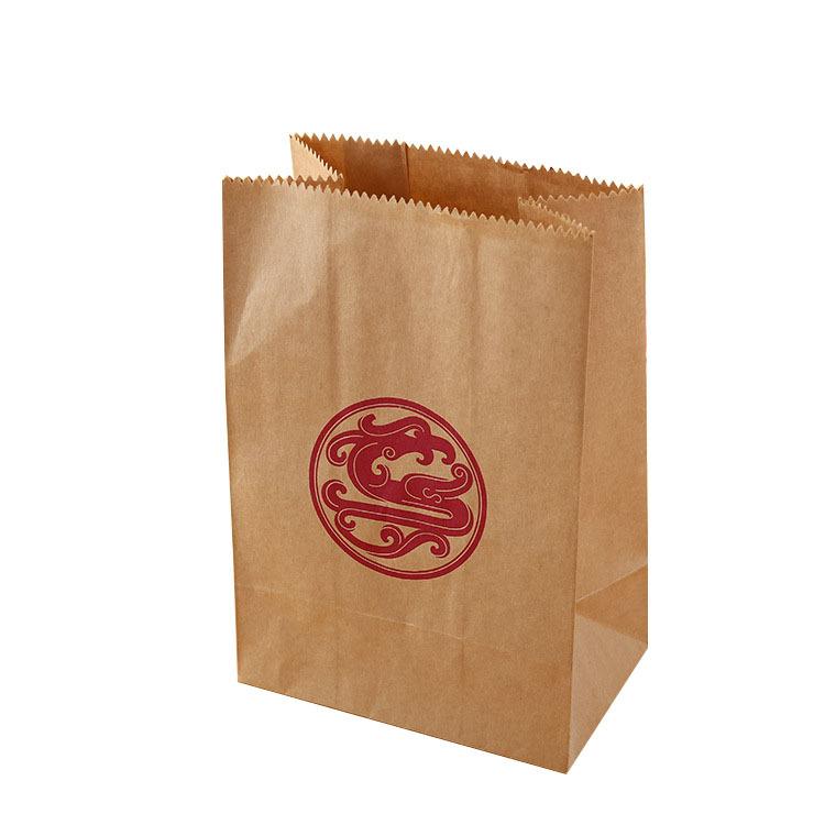 厂家定制果壳皮垃圾坚果袋精致纯木浆牛皮纸方底纸袋白色垃圾纸袋