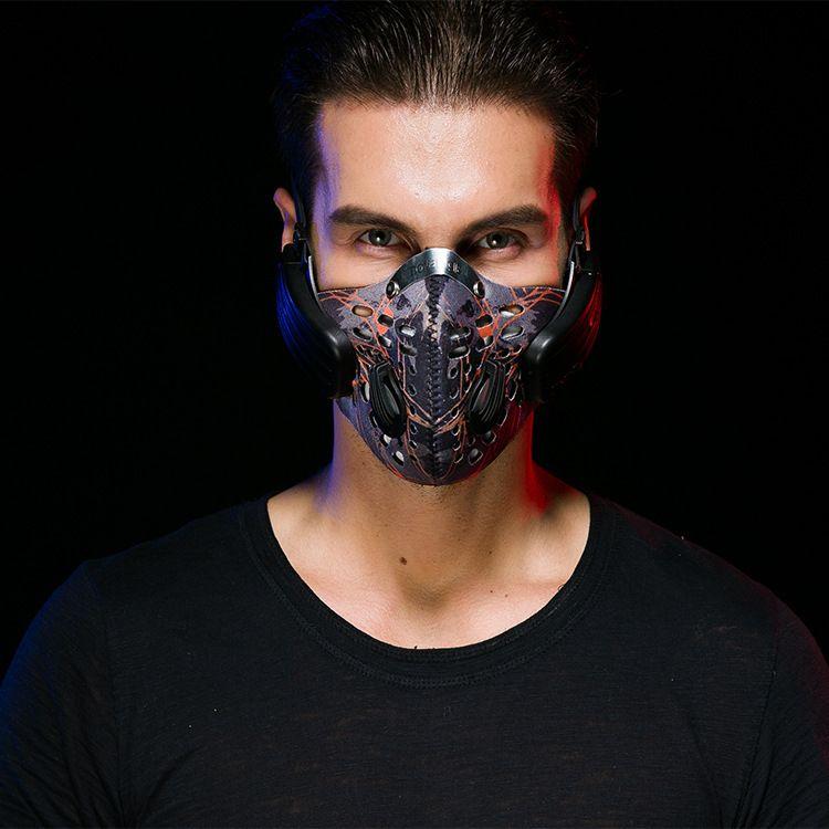 诺度爆款个性时尚防雾霾防尘智能蓝牙音乐口罩骨传导耳机支持通话