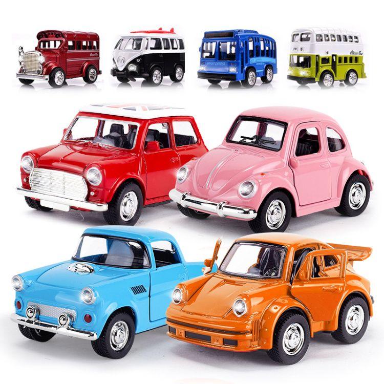 mini合金汽车模型批发价格 迷你合金声光儿童玩具小汽车批发零售