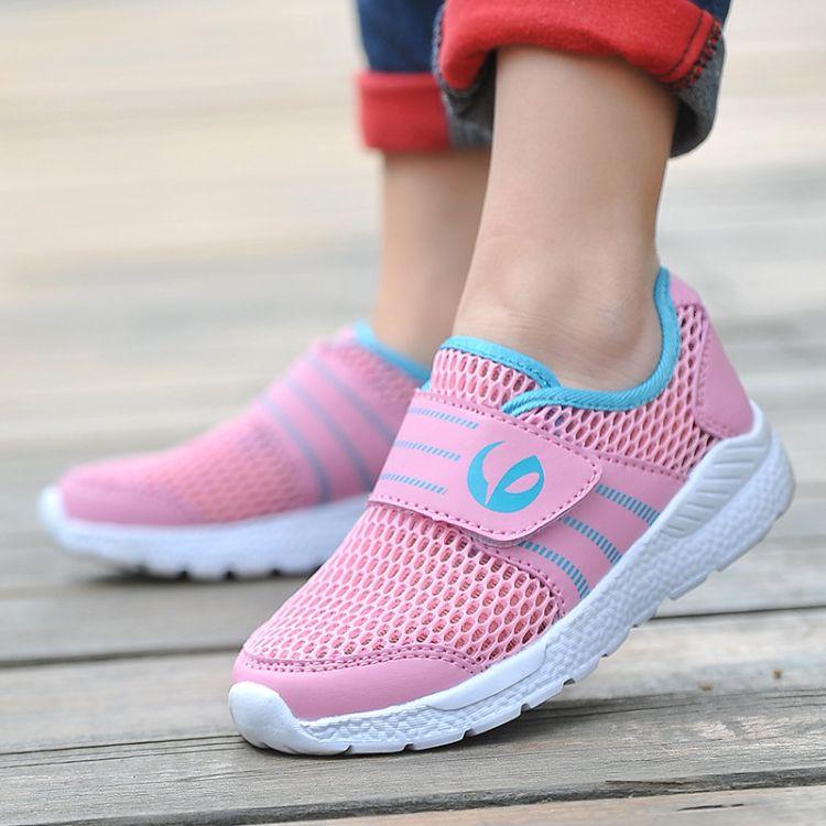 厂家直供18年秋季新款网面小孩运动鞋网布男童鞋透气女童鞋学生鞋