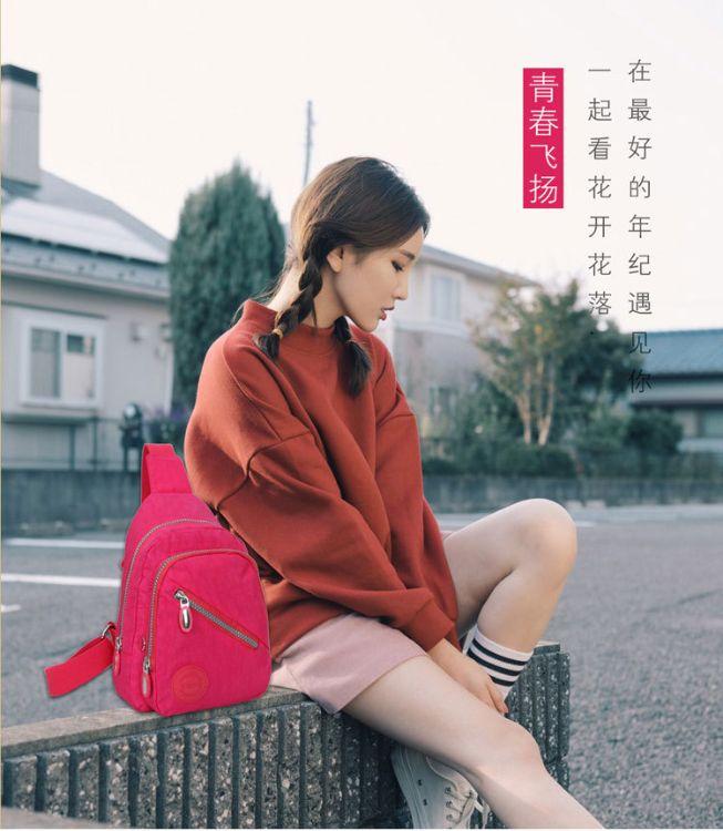 新款韩版户外胸包休闲腰包男女士多功能单肩包户外运动斜挎包批发