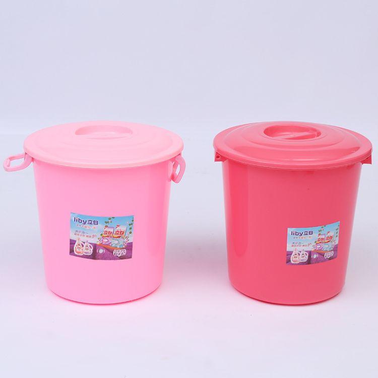 厂家直销带盖塑料水桶可装杂物储存水粮食等环保新料现货供应