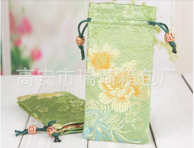 厂家直销中国风色丁布袋 梳子织锦缎袋 色彩艳丽 包装袋