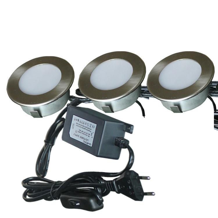 2W LED表面安装三角形橱柜展柜灯套装LED汽车灯游艇灯工厂直销