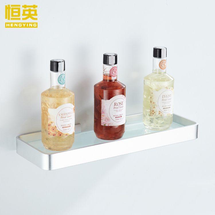 卫生间浴室置物架 玻璃置物架 太空铝浴室卫浴收纳五金挂件批发