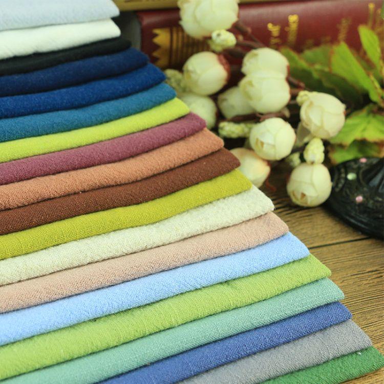 亚麻棉混纺平纹竹节绉布/男女装厂家直销