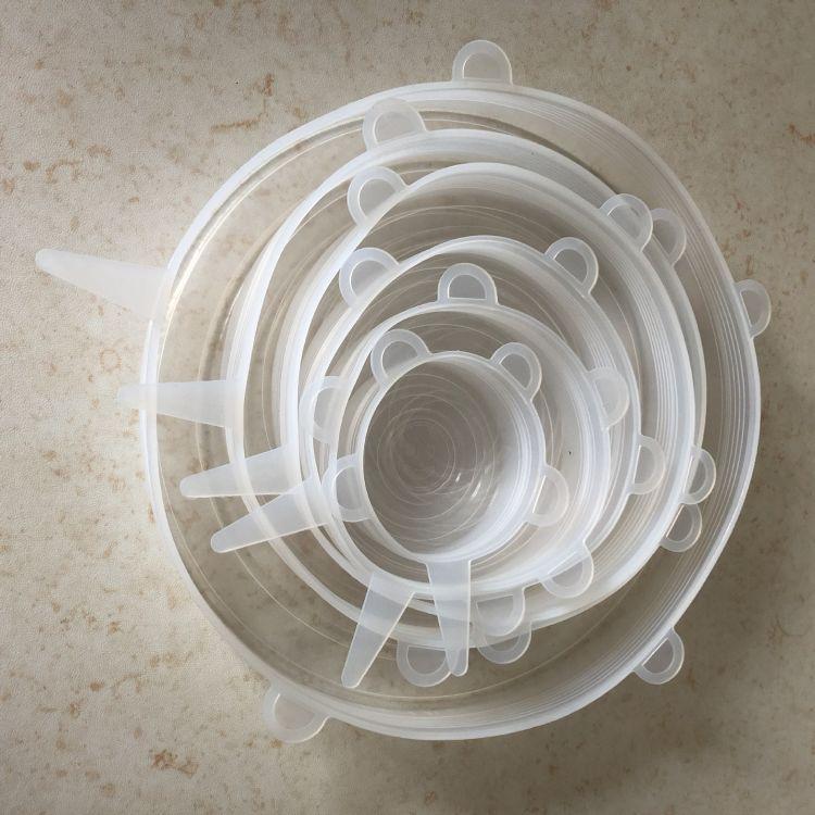 6件套硅胶保鲜盖 多功能保鲜盖 保鲜碗盖水果蔬菜保鲜膜 厂家现货