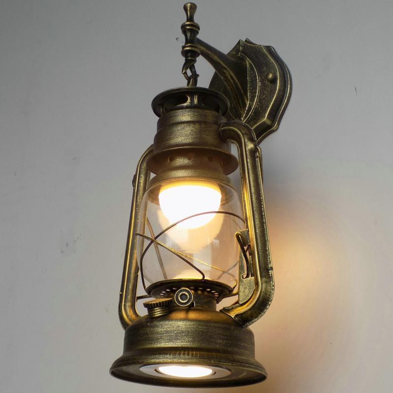 美式乡村过道壁灯仿古马灯老式煤油灯庭院走廊可装在屋檐下的壁灯