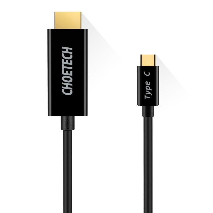 CHOETECH 1.8M Type-C转HDMI高清线材30Hz Macbook连接高清显示器