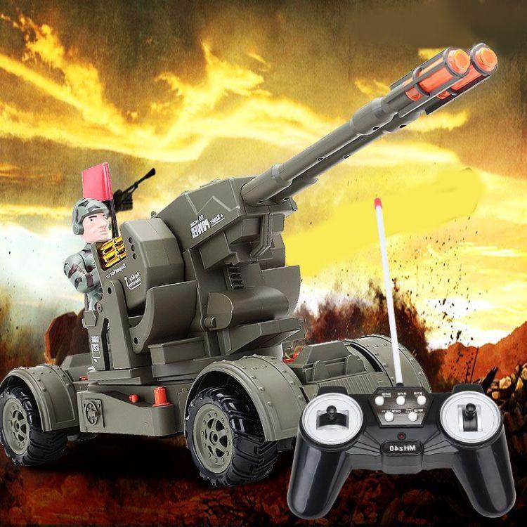 美智6601遥控车11通道防空高射炮大炮坦克精灵射手彩盒礼品玩具