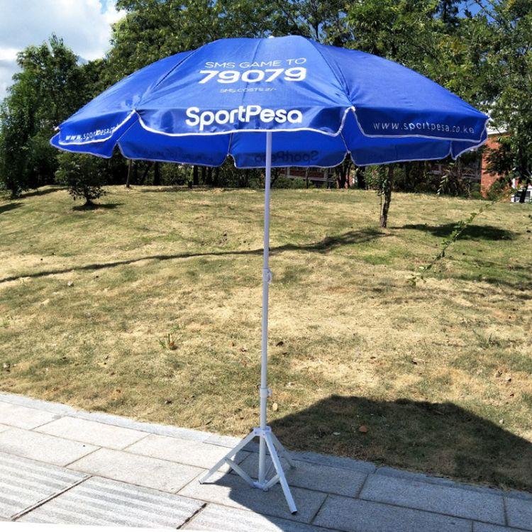 2.2米户外太阳伞广告伞印刷logo  44寸海滩沙滩伞beach umbrella