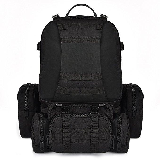 工厂直销 运动户外登山徒步包 多功能组合背包战术迷彩军迷包50L