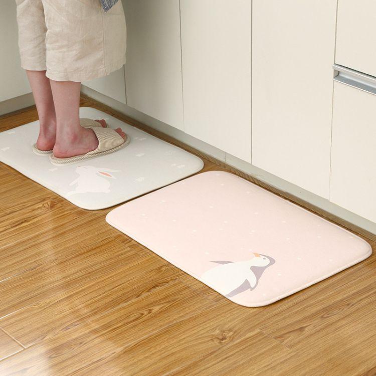 浴室门口吸水地垫 家用卫生间淋浴间防滑垫 大号卫浴淋浴速干脚垫