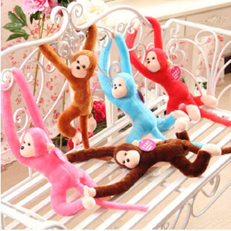 地摊货源创意发声毛绒玩具长尾猴子公仔长臂猴布娃娃促销礼品批发