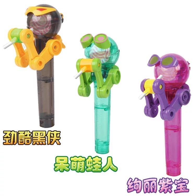 抖音爆款糖僧吃棒棒糖机器人网红创意搞笑新奇特儿童装糖玩具