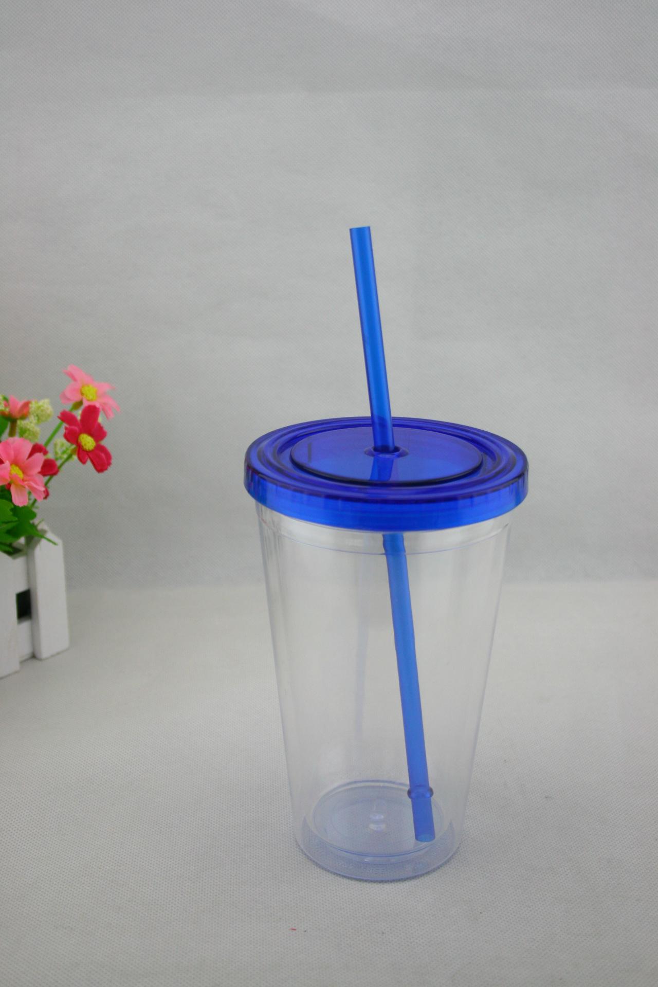 彩色盖吸管杯,AS杯、双层塑料杯,广告杯,欢迎选购
