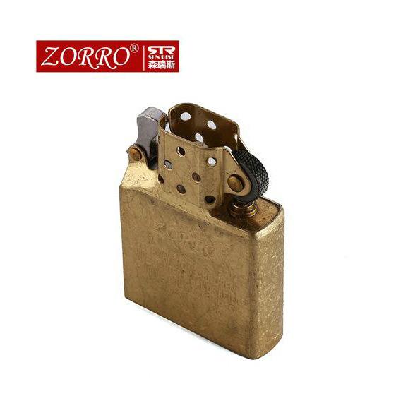 zorro/佐罗煤油打火机配件  白钢纯铜气体专用防风内胆