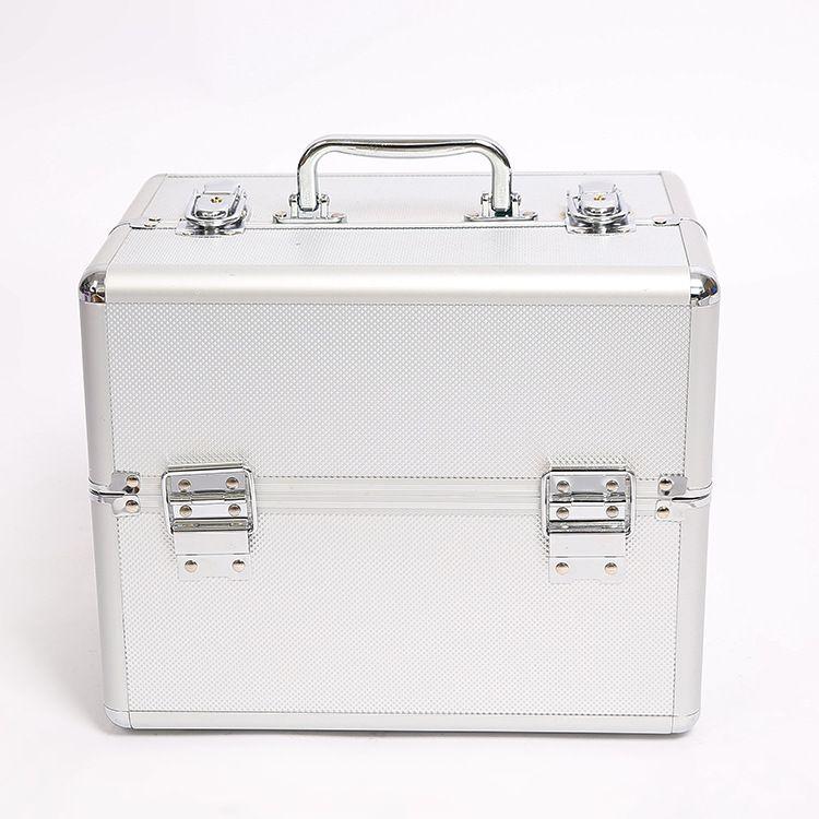 厂家直批多层大号折叠式铝合金化妆箱 专业彩妆美容纹绣工具箱
