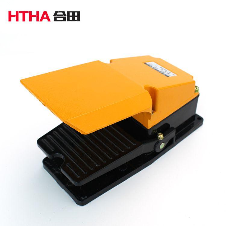 厂家直销 LT4脚踏开关 银触点单脚自复位 铝壳带防护罩 机床配件