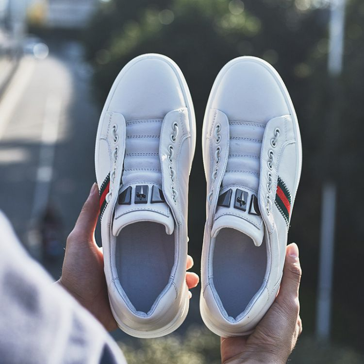 温州皮鞋休闲鞋男式板鞋真皮透气平跟男鞋子秋季百搭潮鞋男单鞋