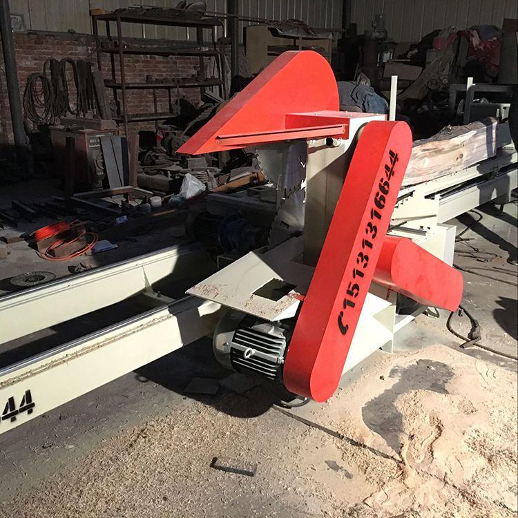 木工圆盘锯1-6米圆木推台锯 木工圆木推台锯 精密裁板锯开料锯