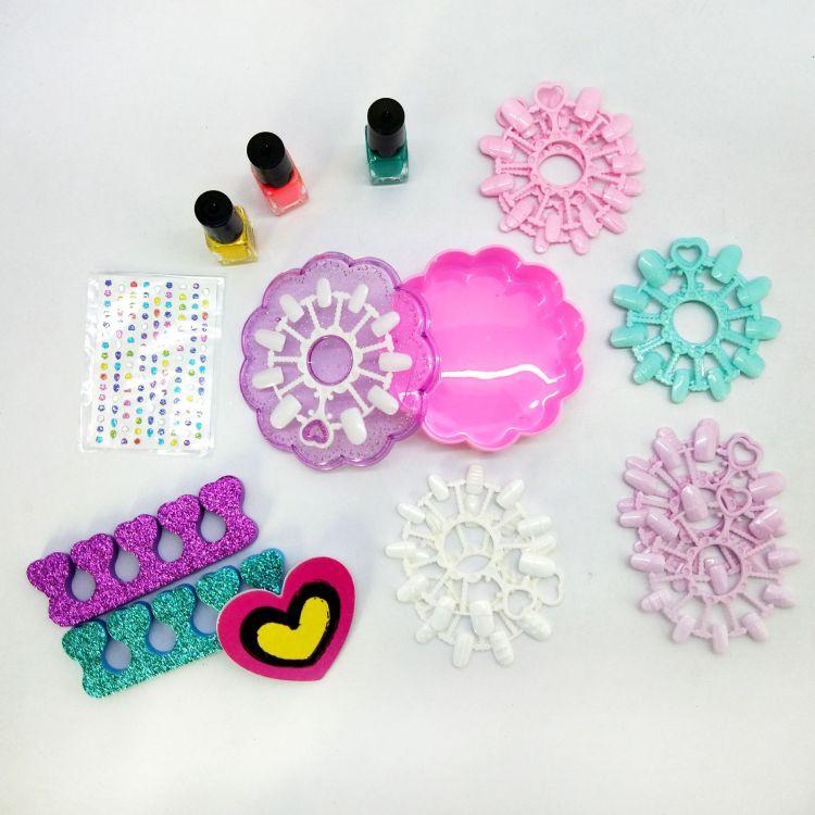 儿童美甲套装饰品指甲贴玩具创意手工diy制作女孩公主生日礼物