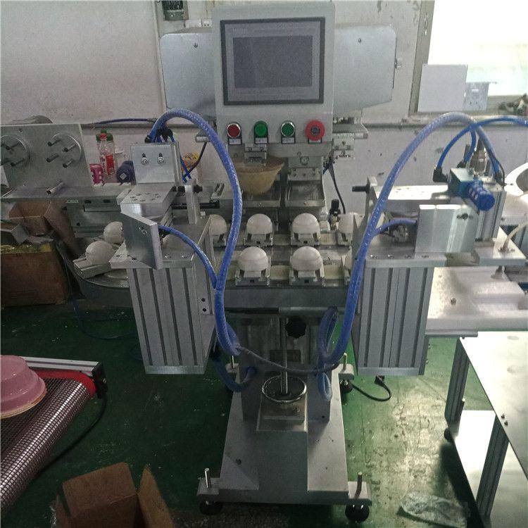 塑料壳双色移印机 骏晖印刷机械 自带清洗 食品外壳移印机 生产厂家