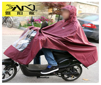 单双人电动车摩托车加大骑行雨披 斗篷式成人连体加大雨衣宽风衣