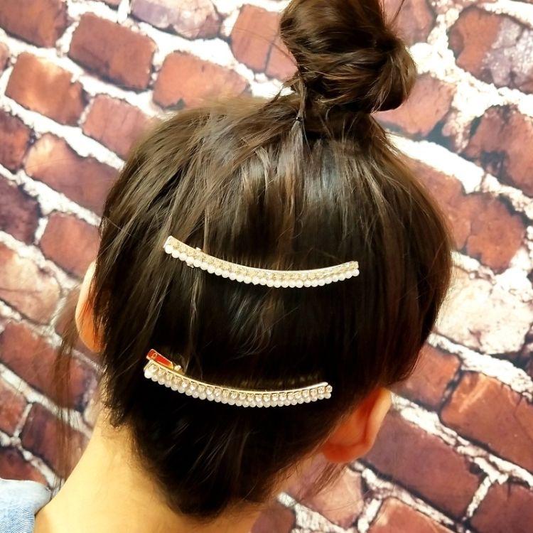 珍珠水钻材质发卡 新品休闲轻奢气质女士头饰 秋冬新潮流发卡批发