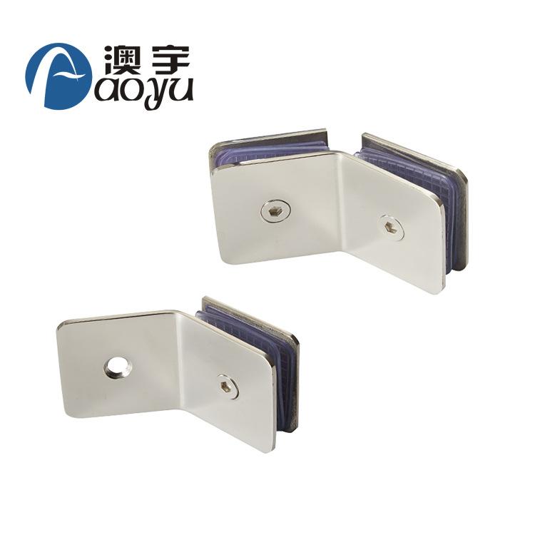 厂家直销浴室配件玻璃固定件304不锈钢浴室隔断码方形135度角码