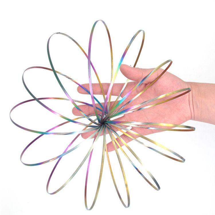 外贸爆款不锈钢魔术手环减压玩具 魔术玩具FLOW ring爆款现货批发