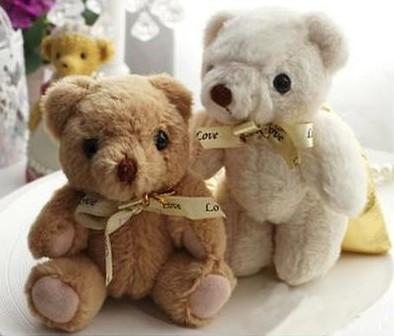长绒布背袋熊 个性卡通喜糖盒 创意金色喜糖袋 礼盒 婚庆用品