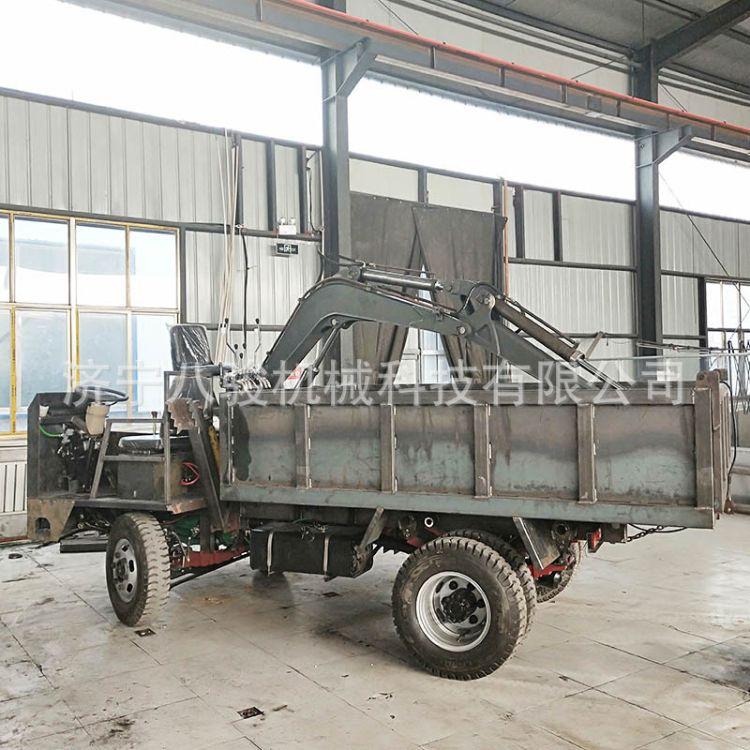 淄博四不像随车挖10吨 支持定做 货箱尺寸可加工定做 四不像挖机