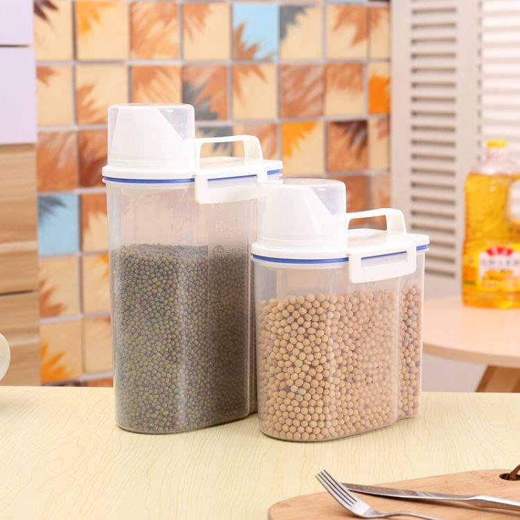 整箱批发大号日式密封塑料保鲜盒 密封罐 食品容器提手米箱 米桶