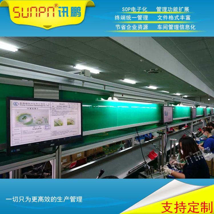 讯鹏福建工厂电子作业指导书无纸化工艺卡液晶工业触摸看板显示屏
