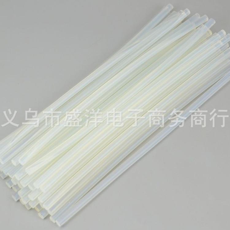 7mm*190mm 高粘度热熔胶 胶棒DIY胶条白色透明环保胶棒批发