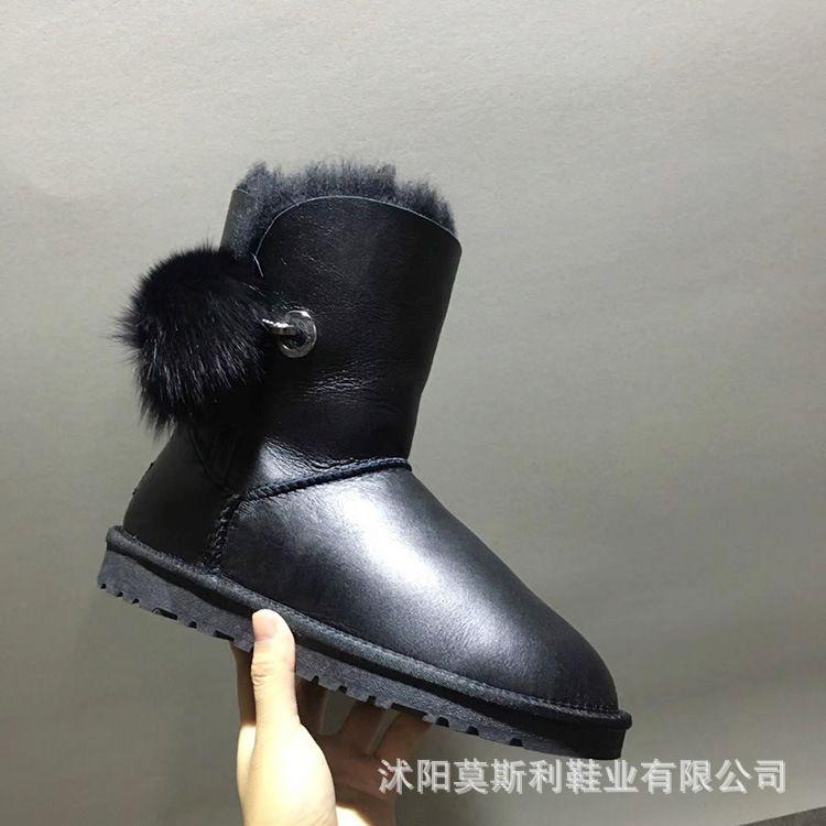 厂家批发 冬季新款58031中筒羊皮毛一体加厚保暖防滑防水女雪地靴