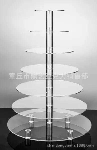 亚克力透明婚庆蛋糕架子 5层6层7层圆糕点架 杯塔蛋糕架生日定制