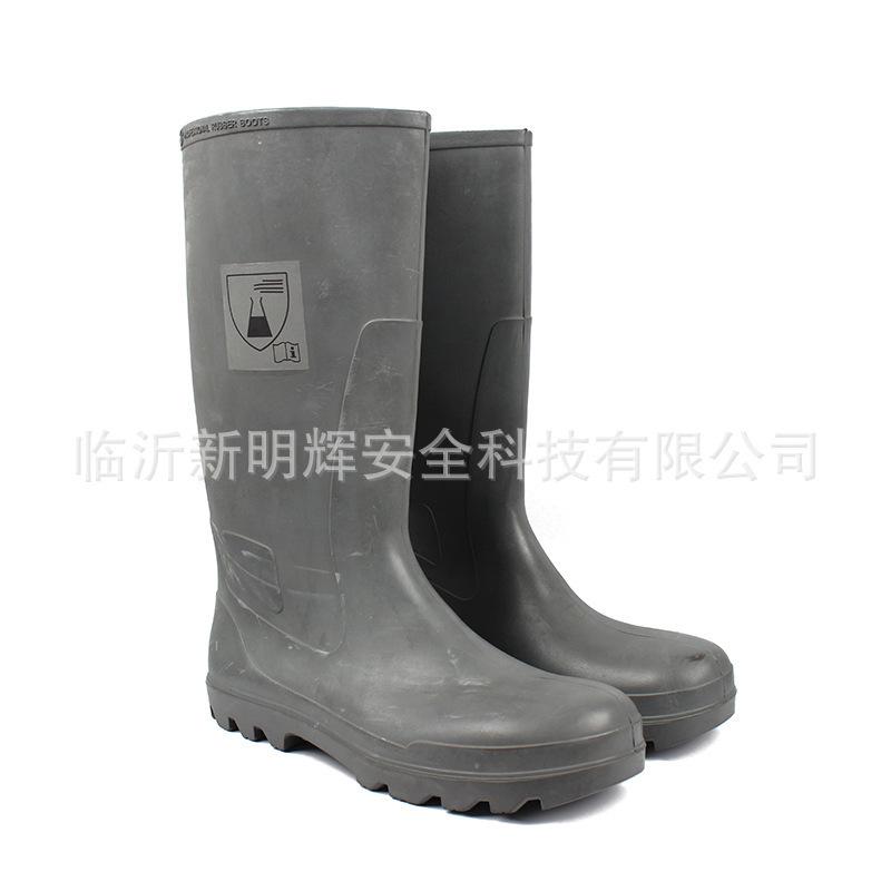 代尔塔DELTA301409PVC高帮防化安全靴防砸防刺穿防静电防水靴