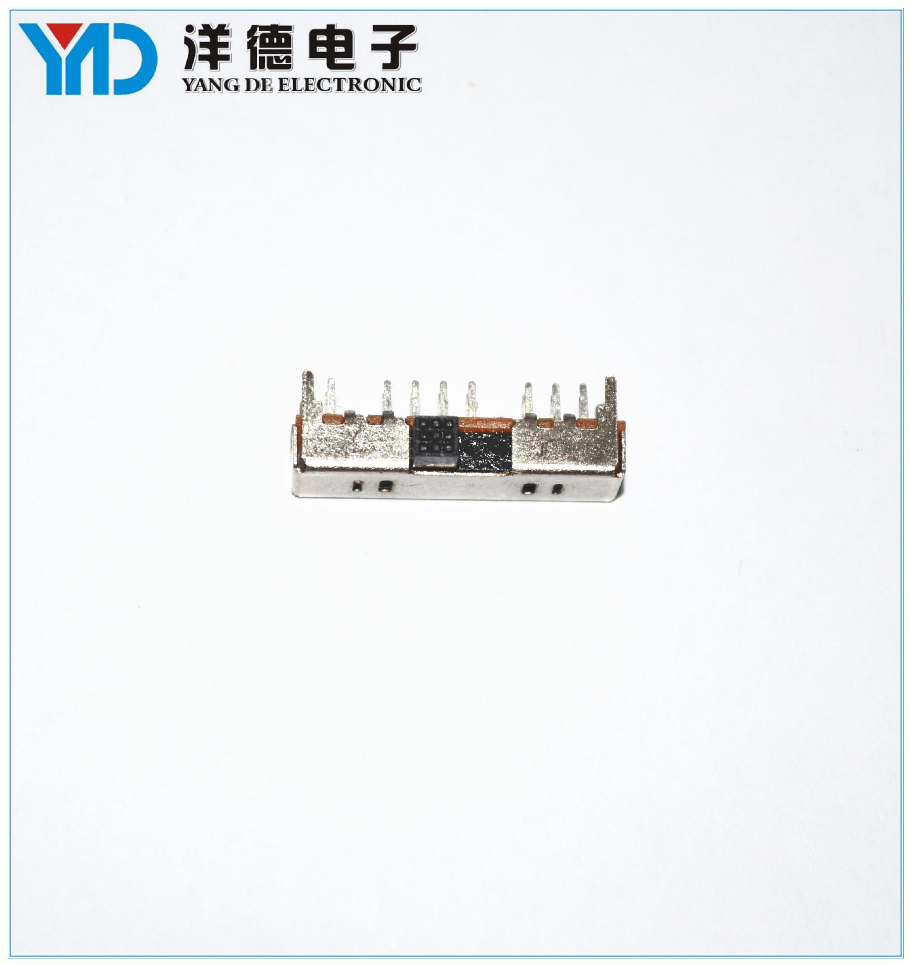 长期供应SS13D01三档拨动滑动开关 单极三位迷你复位滑动开关