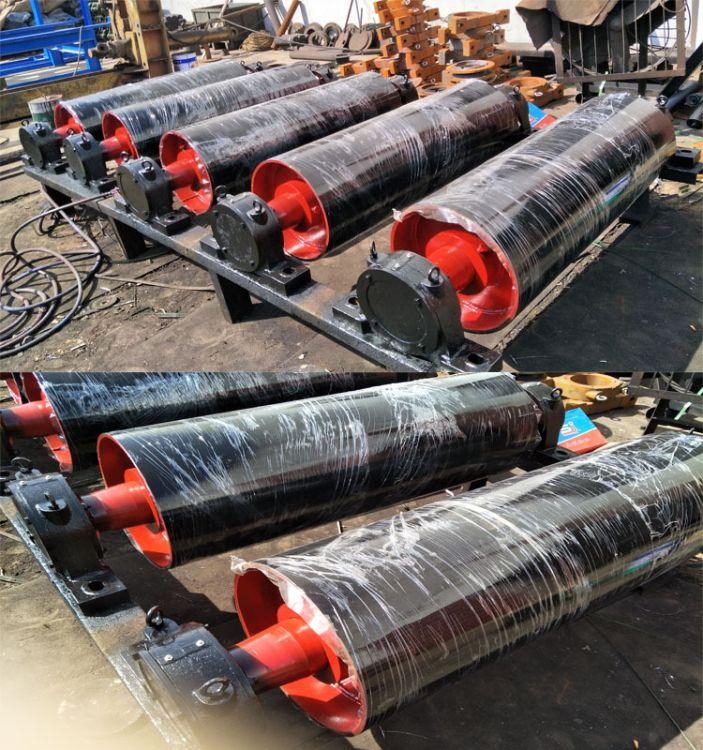 蓝箭橡胶传动包胶滚筒传送带橡胶辊筒 TD75型II型改向滚筒320*750