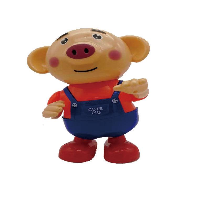 厂家直销7首儿歌抖音爆款海草猪音乐灯光电动跳舞海草猪2-4岁宝宝