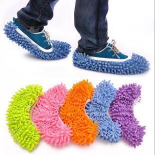 厂家 雪尼尔懒人拖地拖鞋套 清洁地板可拆洗擦地拖鞋 单只价