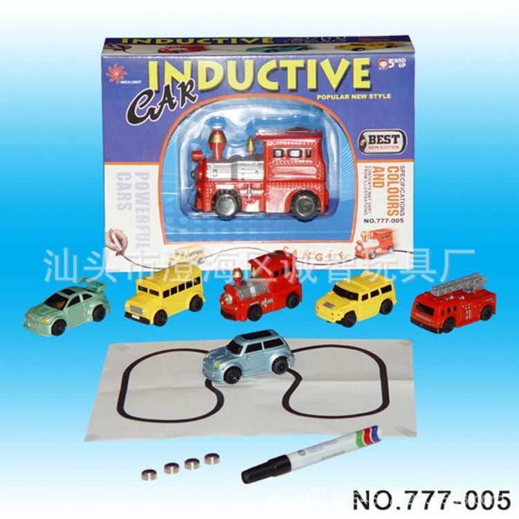 儿童玩具划线感应小汽车跟笔车玩具画线坦克挖土机工程车多款可选